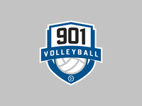 901 Volleyball Crest