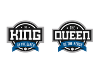 King & Queen of the Court Badges