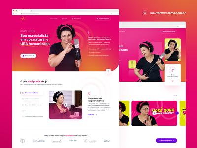 Locutora Flávia Lima - New website ui design website grid uidesign interface