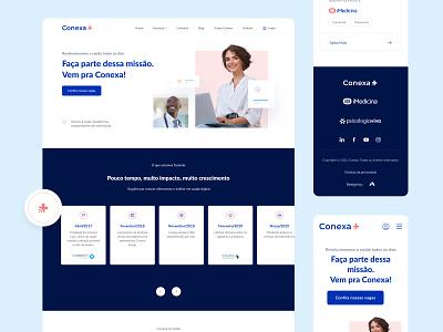 Novo site Conexa Saúde landingpage ui website grid uidesign interface design