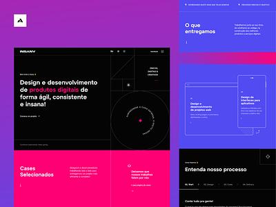 Insany Design studio branding landingpage ui website grid uidesign interface design