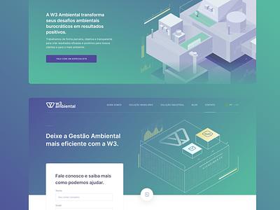 W3 Ambiental branding illustration ui landingpage website grid uidesign interface design