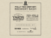 Invite for PTW Party at Yards Brewery
