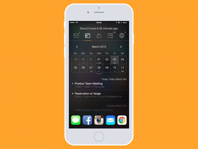 iOS Widget-based Quick Glance app - Calendar View