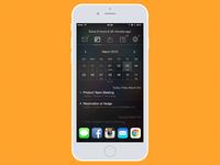 iOS Widget-based Quick Glance app - Calendar View