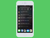iOS Widget-based Quick Glance app - Messages View