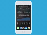 iOS Widget-based Quick Glance app - Weather View