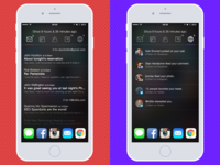 iOS Widget-based Quick Glance app - Mail & Social View