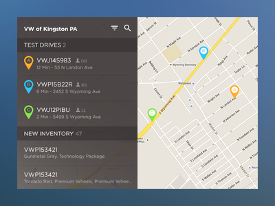 DailyUI - Location Tracker tracker location app ux ui dailyui
