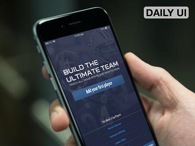 DailyUI - Onboarding NFL Redzone iOS football fantasy ios redzone nfl app ux ui dailyui
