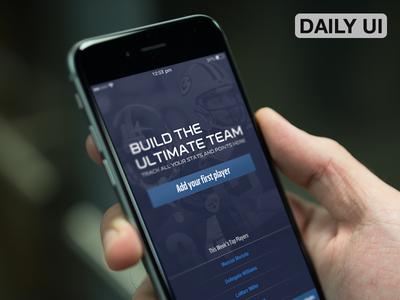 DailyUI - Onboarding NFL Redzone iOS