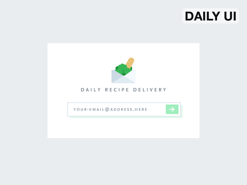 Dailyui 26 subscribe