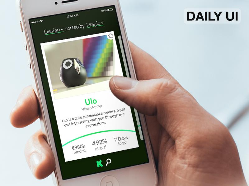 DailyUI - 032 - Crowdfunding crowdfunding ux ui dailyui
