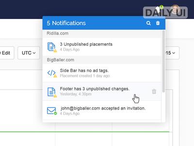 DailyUI - 049 - Notifications