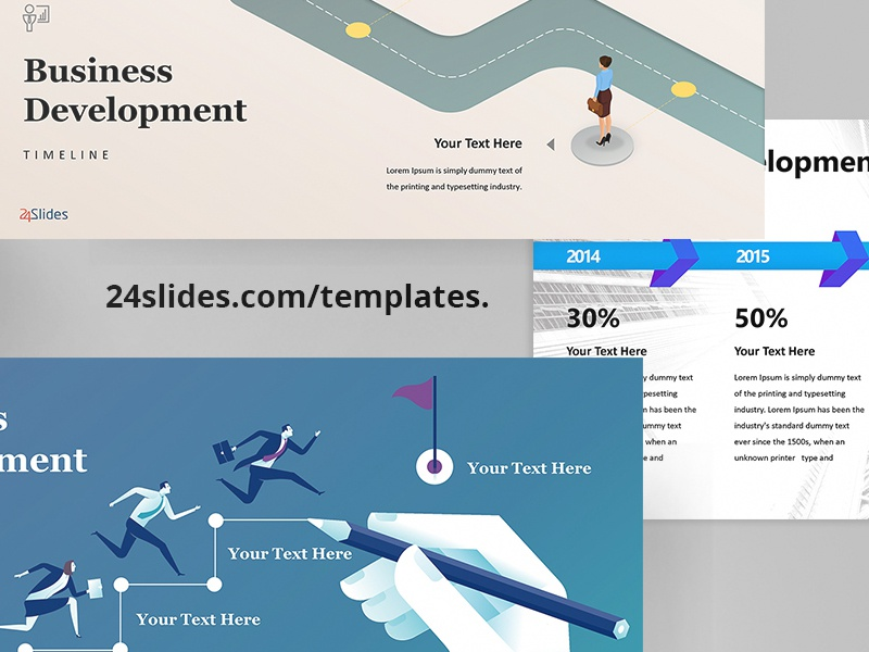 business roadmap template free download by 24slides dribbble