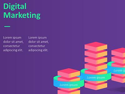 digital marketing presentation template | free download24slides, Digital Marketing Presentation Template, Presentation templates