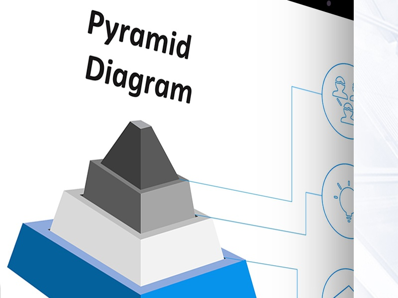 pyramid slide templates free download by 24slides dribbble