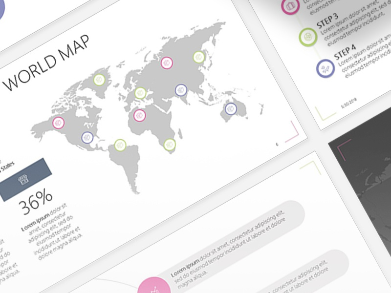 World Map Powerpoint Template Free Download By 24slides Dribbble