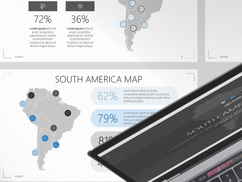 south america map powerpoint template free download by 24slides