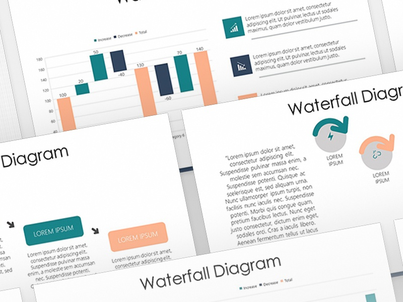 waterfall diagram presentation template free download by 24slides