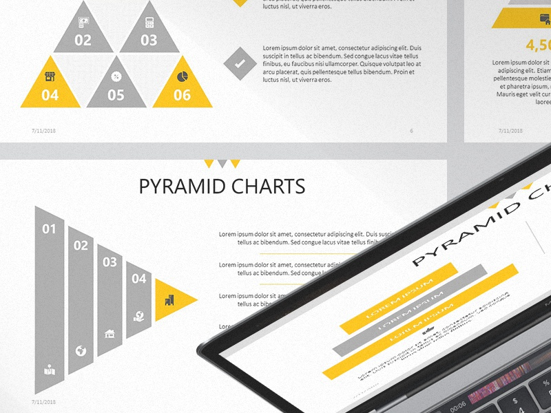 pyramid chart presentation template free download by 24slides