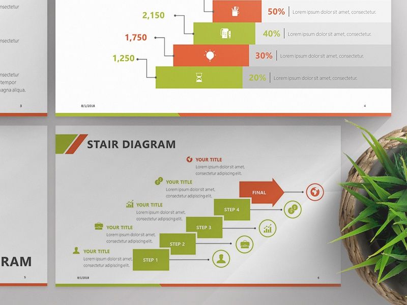 Stair Diagram Presentation Template | Free Download by 24Slides on