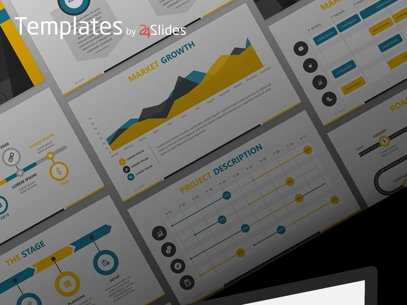 business roadmap presentation template free download by 24slides