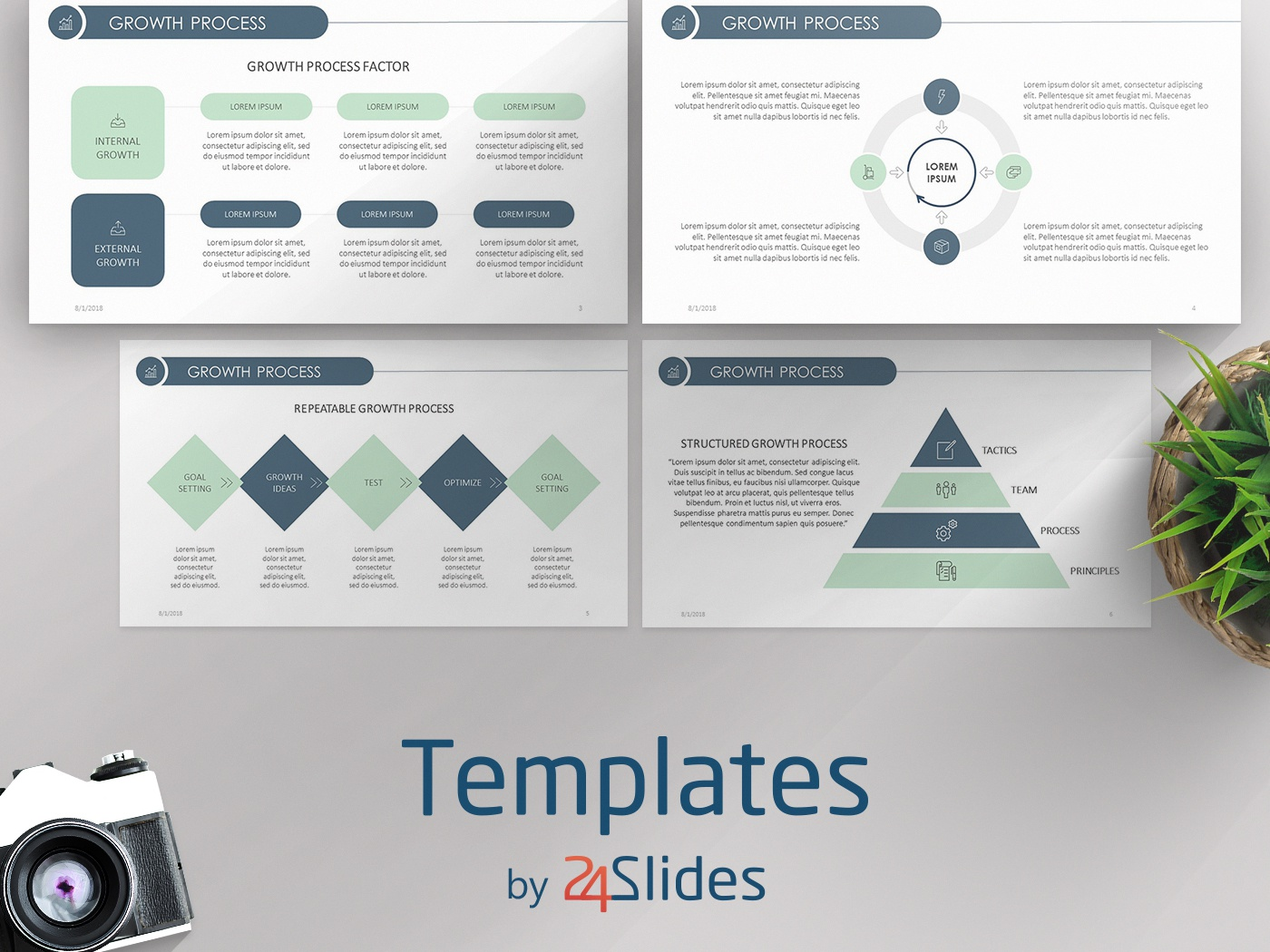 Growth Process Presentation Template Free Download By 24slides