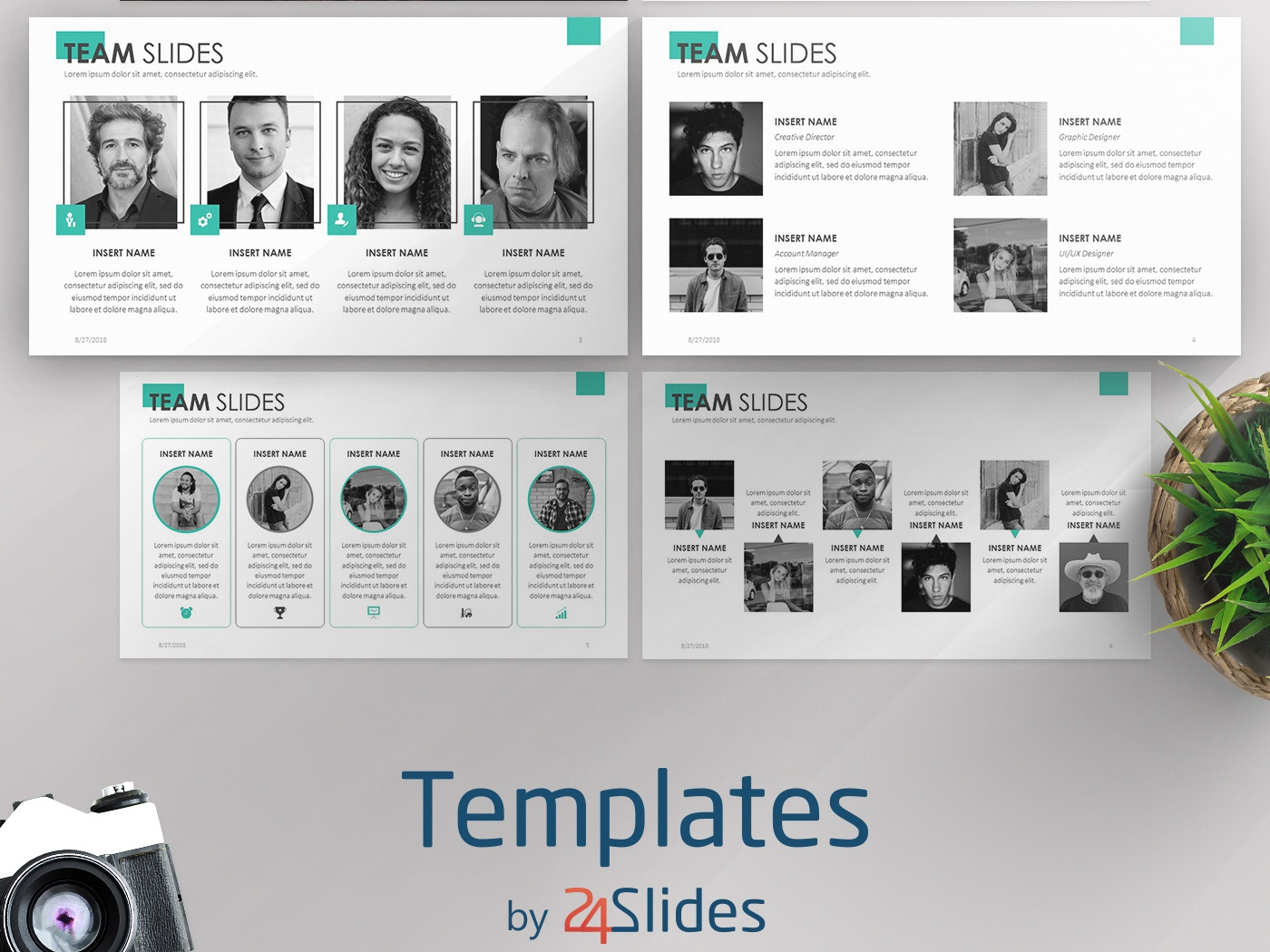 Team Slides Powerpoint Template Free Download By 24slides
