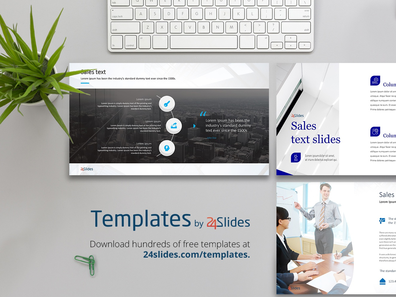 text based sales presentation free download by 24slides dribbble