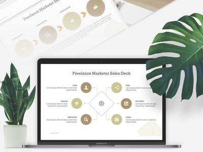Freelance Marketer Sales Deck Presentation | Free Download templates brandingstrategy 24slides graphicdesign download presentations presentationlayout corporatedesign powerpoint free
