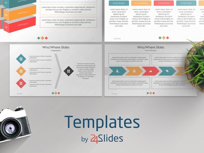 Explaining Who and Where Presentation Template | Free Download branding presenting download presentationdesign brandingstrategy templates graphicdesign powerpoint presentations