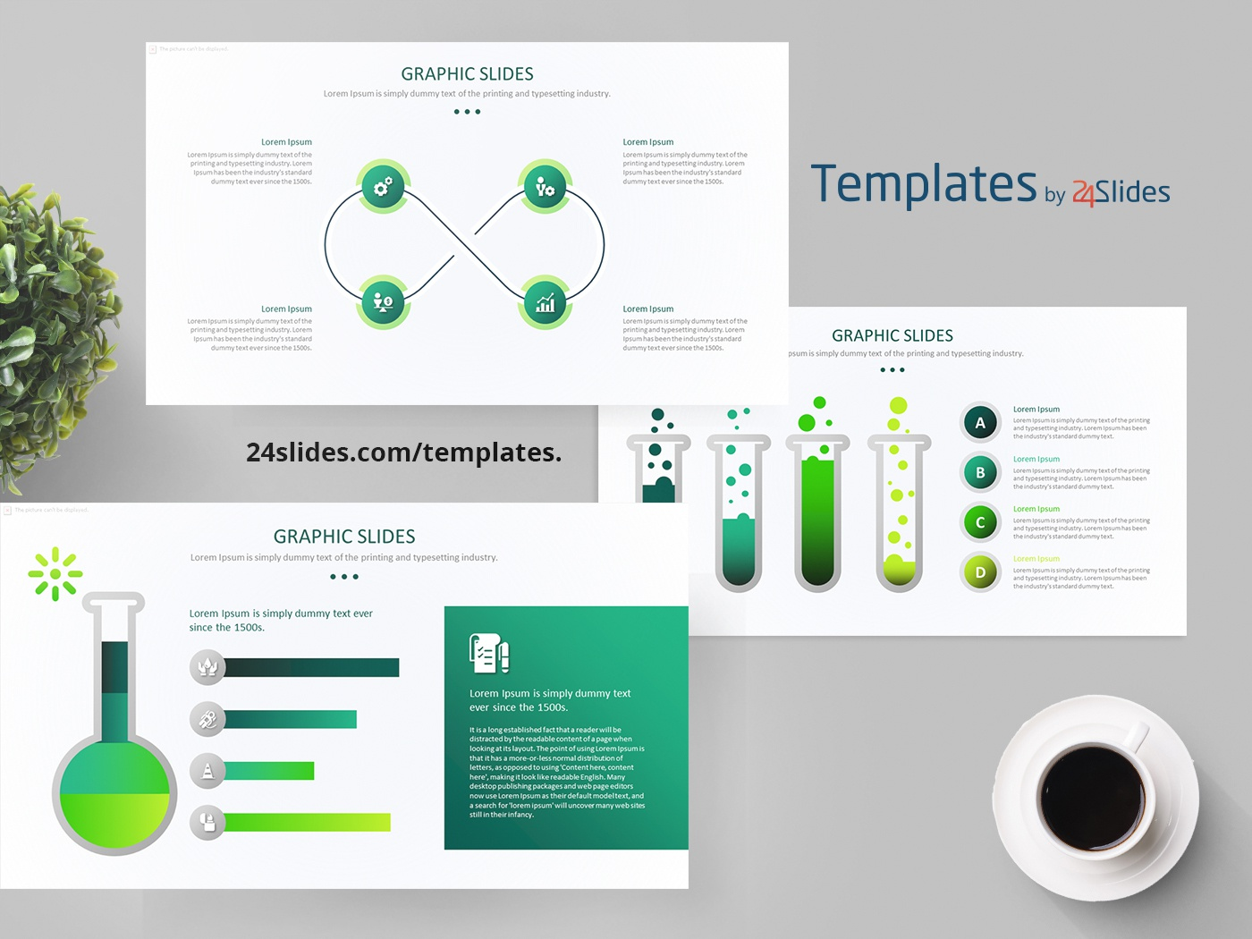 Science Graphs Powerpoint Template Free Download By