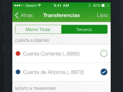 Bank App Practice · Transfer Screen