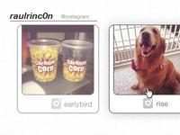 personal website · instagram