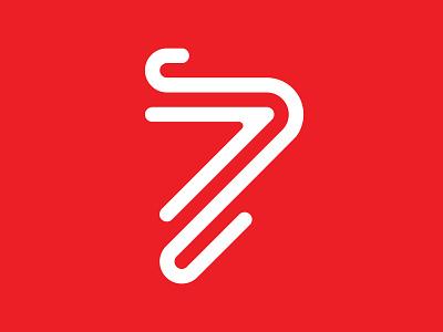 7 patrick lowden line typography type 36days-7 logo mark seven 7