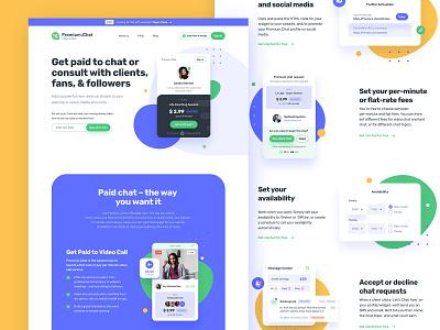 Premium.Chat web design proposal blob ui video chat paid chat chat web ui design minimal web design landing page clean figma