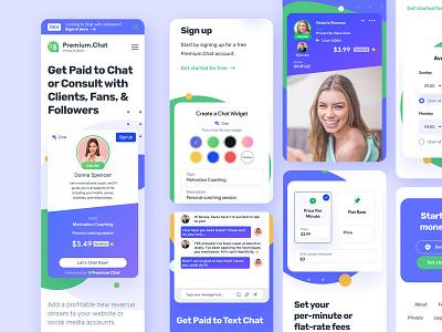 Premium.Chat web design proposal website shapes purple ui widget chat message ui chatbot paid chat bot chat ui minimal design icons web design landing page clean figma