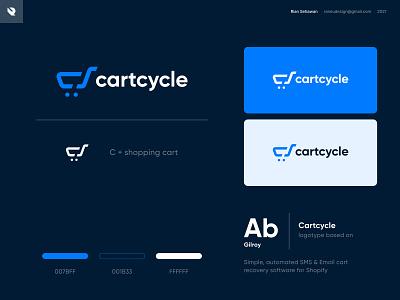 cartcycle logo branding negative space startup logo modern logo clean logo marks visual identity logo design logo designer cart logo c cart logo