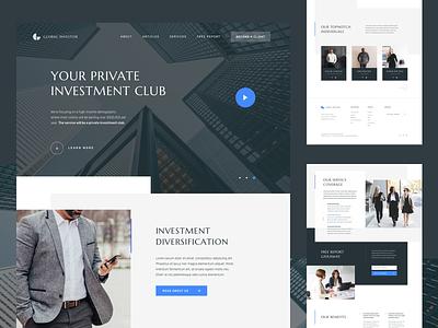 Investment Landing Page advisory sketchapp capital team business web minimal clean big type web design figma ui design landing page investment