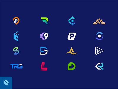 Unused Logo Explorations identity brands flat logo lettermark monograms initials logo typography logo monogram blue logo modern logo minimalist logo logo logos