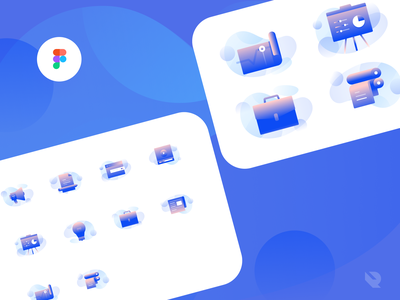 [Freebie] Advertisement Icons Illustration set detailed icons clean icons ui design figma freebies freebies media icons print icons advertisement icons business icon pack icon illustration blue icons icon set figmadesign freebie