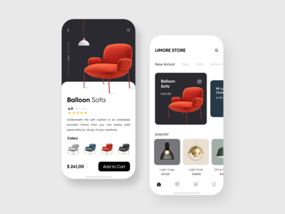 Mobile App for furniture Store  Concept