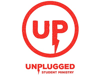 Unplugged Student Ministry Logo nondenom catholic student ministry ministry youth group christian branding logo voltage electricity unplugged