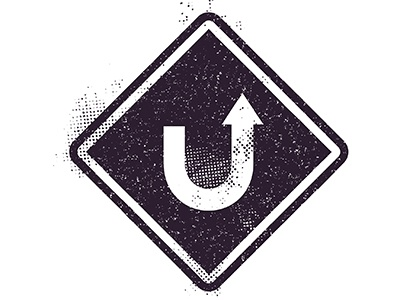 U Turn Student Ministry Logo branding logo christian logo christian church youth ministry youth group ministry customize template custom logo