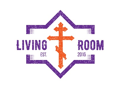 Living Room Student Ministry Logo faith christian symbols cross christian design christian youth group student ministry community church living room