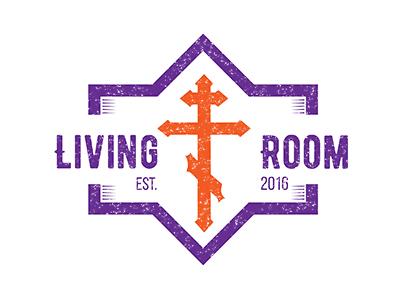 Living Room Student Ministry Logo faith christian symbols cross christian design christian youth group student ministry community church living room