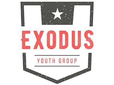 Exodus Youth Group Logo branding logo youth ministry youth group bible exodus christian logo