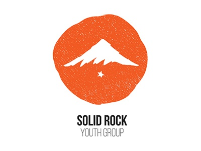 Solid Rock Youth Group Logo sold rock faith christian youth logo church student ministry youth group firm foundation mountain rock
