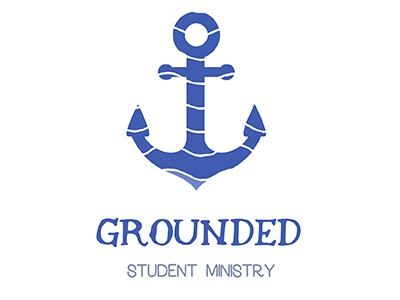 Grounded Student Ministry Logo holy spirit spirit faith based jesus faith christian youth group student ministry youth ministry waves anchor grounded